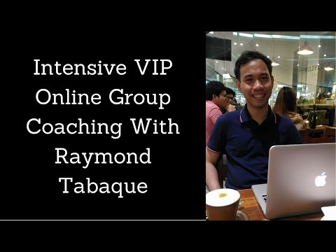Intensive Group Coaching About Blogging With Raymond Tabaque