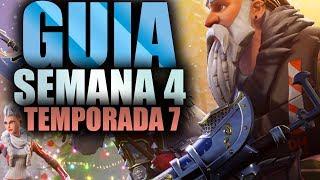 COMO COMPLETAR TODAS LAS MISIONES DE LA SEMANA 4 TEMPORADA 7 - Fortnite Battle Royale