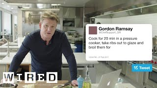 Download Gordon Ramsay Answers Cooking Questions From Twitter | Tech Support | WIRED Mp3 and Videos