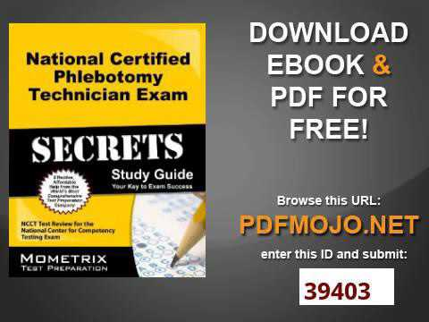 Certified phlebotomy technician study guide