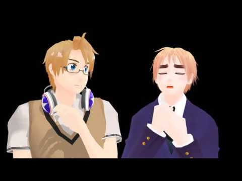 [MMD] England and America's Highschool Musical auditions - Axis Powers Hetalia (+500 Subs!)