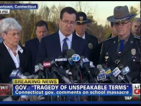 CNN Sandy Hook Broadcast Obama Gov Sheriff Press Conferences