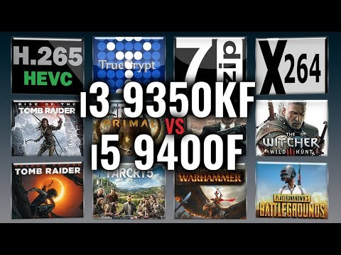 Intel i3 9350KF vs i5 9400F Benchmarks | Test Review | Comparison | Gaming | 13 Tests