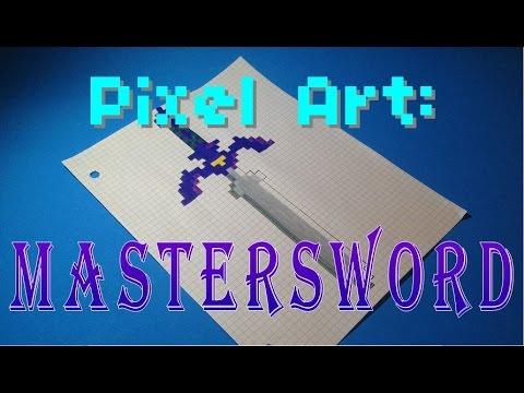 Pixel Art The Legend Of Zelda Mastersword