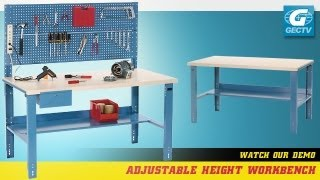 Workbench With Height Adjustable Legs