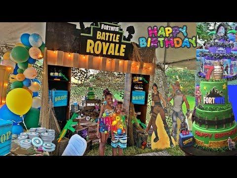 HAPPY BIRTHDAY DJ- WE THREW DJ AN EPIC FORTNITE BATTLE ROYALE BIRTHDAY PARTY