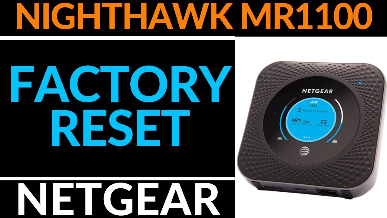 How to Reset the Netgear Nighthawk M1 MR1100 - Netgear Hotspot Tutorial