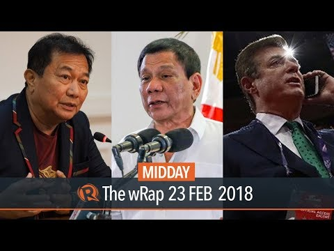 Duterte on Malacañang ban, Alvarez on Sara Duterte, New charges vs Manafort | Midday wRap
