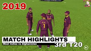 Afghanistan vs West Indies 3rd T20 Highlights 2019 Gameplay