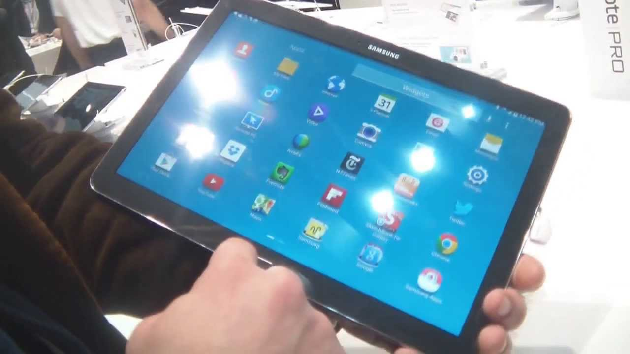 tablette samsung carte sim Samsung Galaxy Note Pro 12 2   Mobile World Congress 2014   YouTube