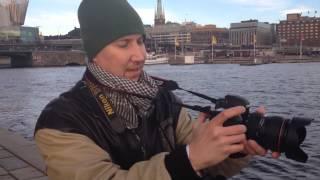 Видео зарисовка о работе фотографа в Стокгольме