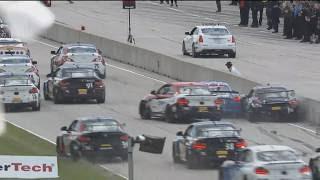 Pirelli World Challenge (GTS/GTSA/TC) 2017. Race 2 Road America. Start Crash