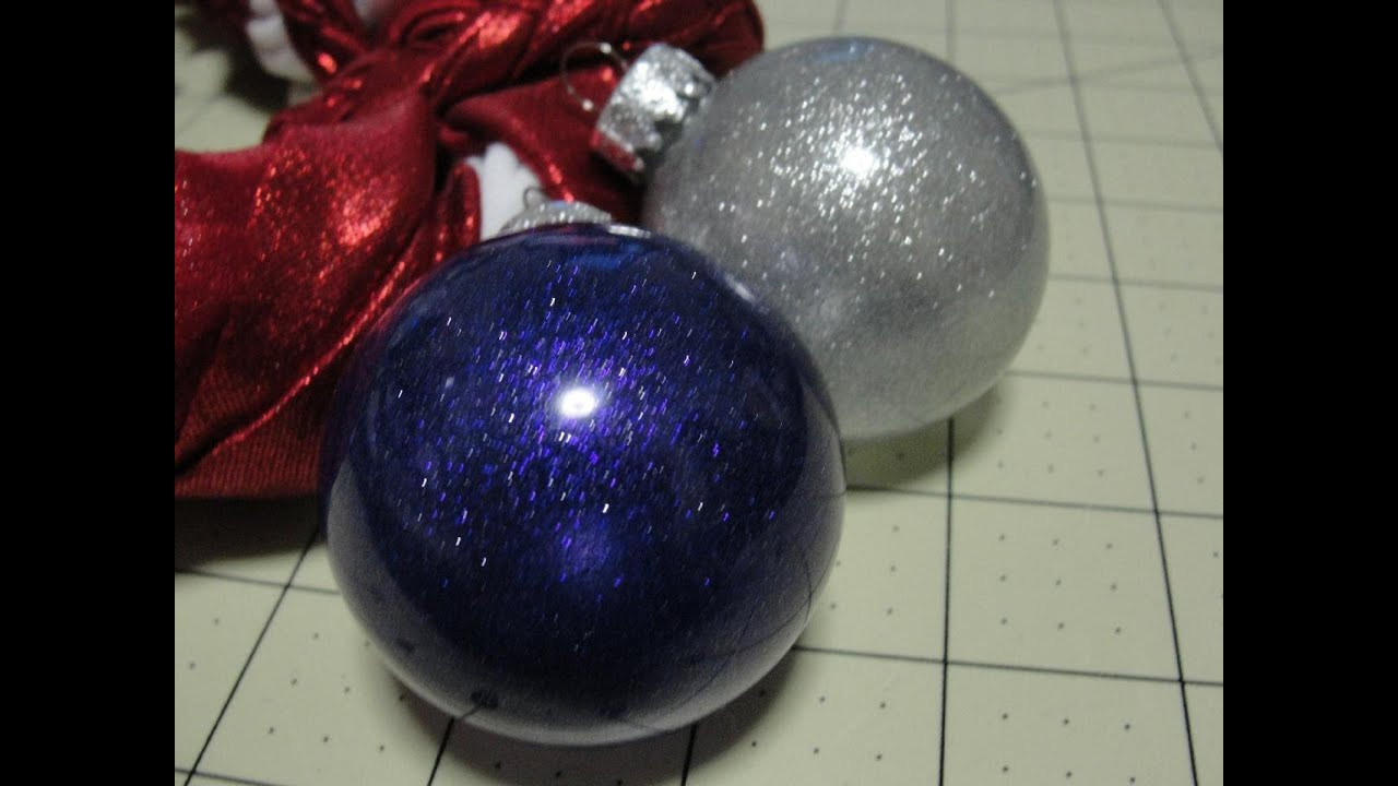 Acrylic clear ornaments - Extreme Glitter Acrylic Paint Ornament