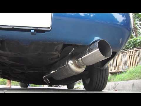 "Fujitsubo free flow 2.5"" inlet muffler on 4age Silver Top engine"