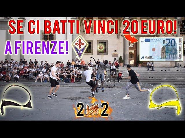 REGALIAMO 20 EURO a chi riesce a BATTERCI a calcio a Firenze! - Sfide 2 VS 2