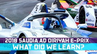 What We Learned At The 2018 SAUDIA Ad Diriyah E-Prix | ABB FIA Formula E Championship