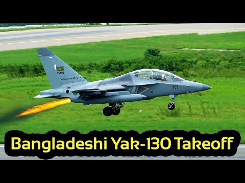 Watch CLOSE VIEW of Bangladesh Air Force's Yak-130 Takeoff