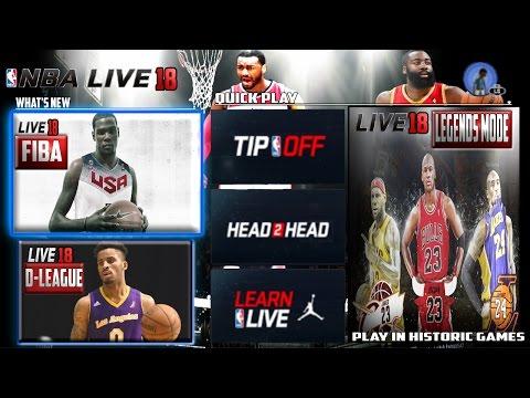 NBA Live 18 - New Game Modes Concept - (Fiba Game Mode/Historic Moments!) [CONCEPT/IDEA]