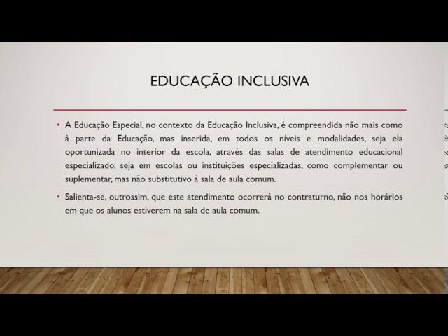 Trecho módulo 1 - Políticas públicas para inclusão