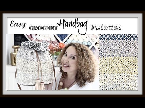 Easy Crochet Ombré Handbag Tutorial
