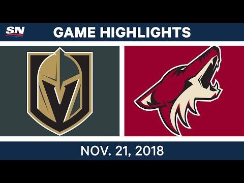 NHL Highlights | Golden Knights vs. Coyotes – Nov. 21, 2018