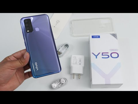 Vivo Y50 Unboxing & Full Review In Hindi - 5000 MAH Big Battery & Cool Design @17990 Rs  Thetechtv
