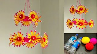 DIY Best out of Waste Plastic Bottles and Wool/ Best Reuse Idea
