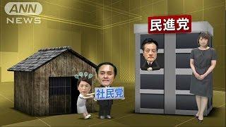 """存亡の危機""社民党 「民進党合流」提案で混乱(16/05/13)"