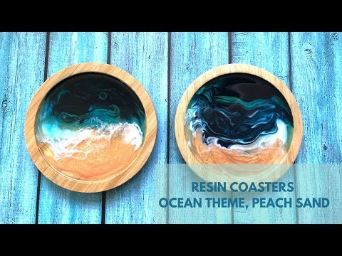 Easy Resin Ocean Coasters