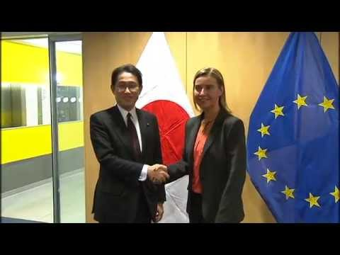 HRVP Federica MOGHERINI withs Fumio KISHIDA, Japanese Minister for Foreign Affairs