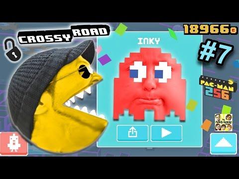 Let's Chomp on Crossy Road! PACMAN 256 Secret Characters Update (FGTEEV DUDDY & LEX Part 7 GAMEPLAY)
