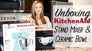 Unboxing | KitchenAid 5-Quart Artisan Stand Mixer in Ice + Mermaid Lace Bowl!