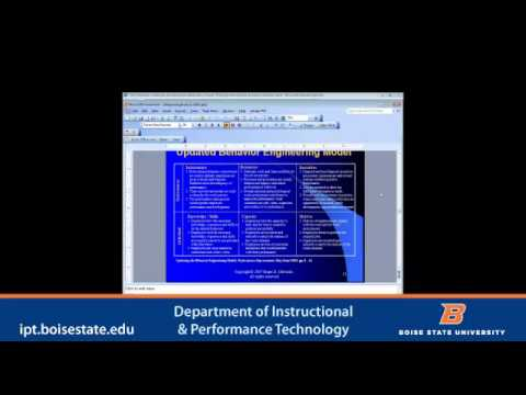 Boise State OPWL: A Webinar with Roger Chevalier