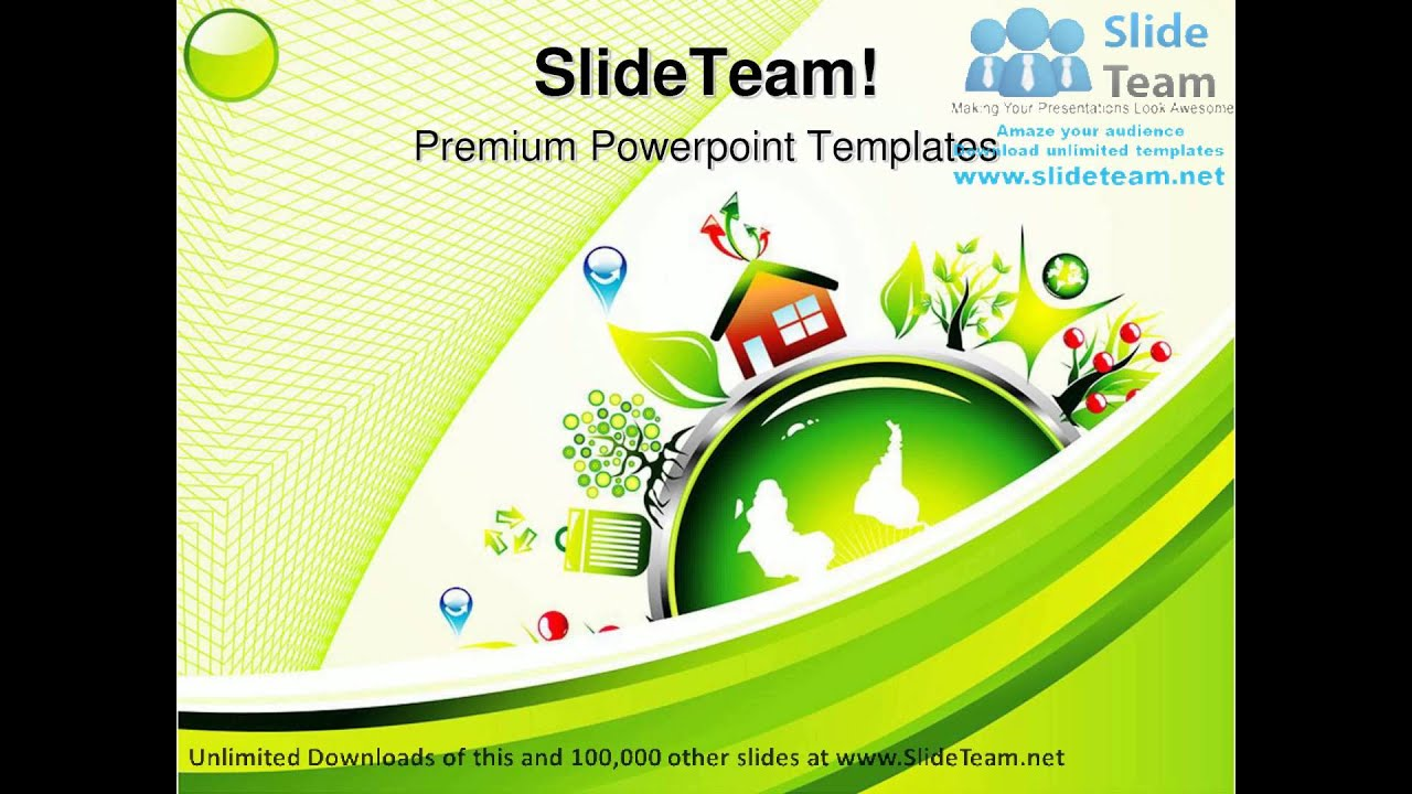 powerpoint themes green environment wwwpixsharkcom
