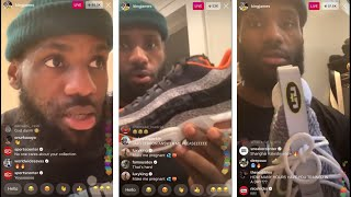 LeBron James SHOWS OFF his INSANE Sneaker collection on Instagram Live 🔥