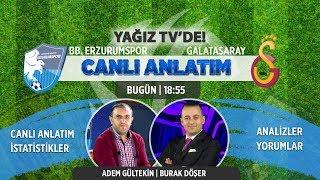 BB Erzurumspor - Galatasaray   İkinci Yarı   Canlı Anlatım