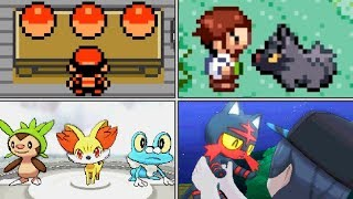 Evolution of Starter Pokémon Scenes (1996 - 2017)