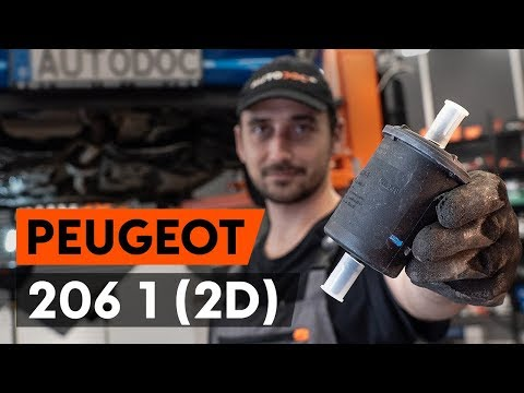 How to replace fuel filter PEUGEOT 206 1 (2D) [TUTORIAL AUTODOC]