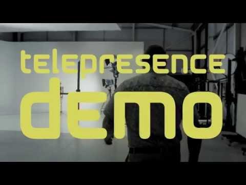 Robothespian: Amazing Telepresence Demo with Humanoid Robot