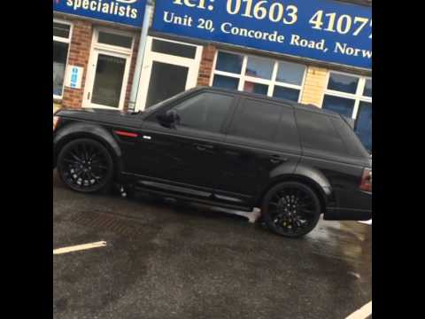 Blacked out Range Rover Sport  YouTube