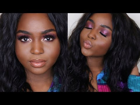 QUICK MAKEUP LOOK GET READY WITH ME ft CELIE HAIR BRAZILIAN BODY WAVE