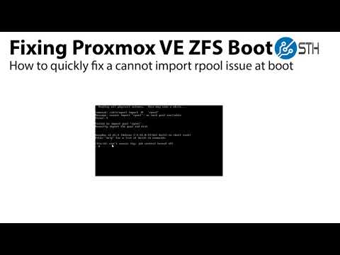 Proxmox VE cannot import rpool no such pool available fix for ZFS boot
