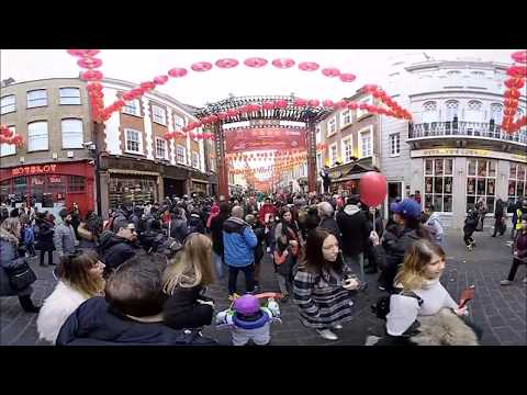 4K 3D 360° VR Chinese New Year 2018 Chinatown London celebrations pt  3