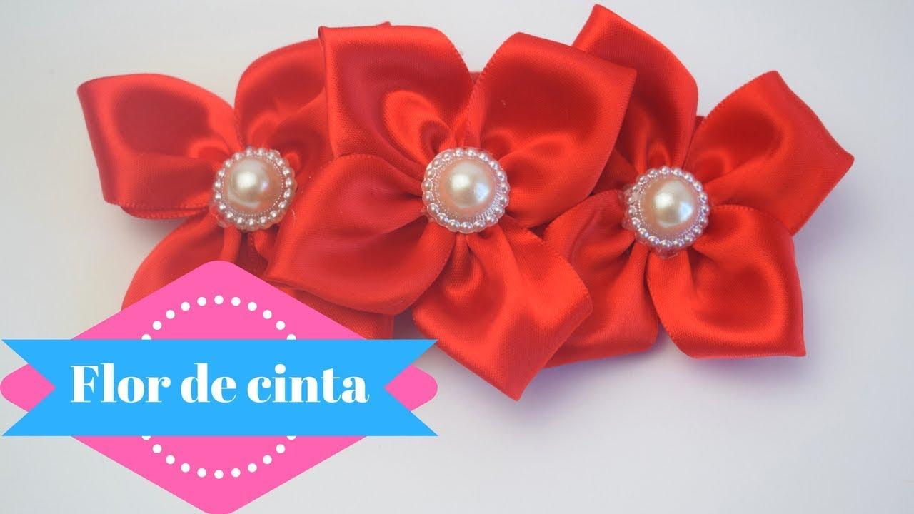 Flor De Cinta Gancho Para El Cabello Margari Youtube