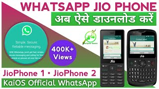 Gambar cover Download WhatsApp on Jio Phone by Browserling 100% Working | Hindi