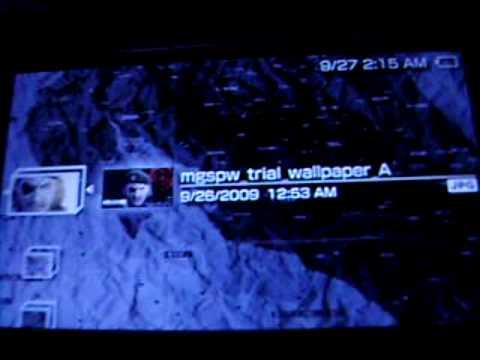 Secret Wallpaper In Mgs Peace Walker Demo Youtube