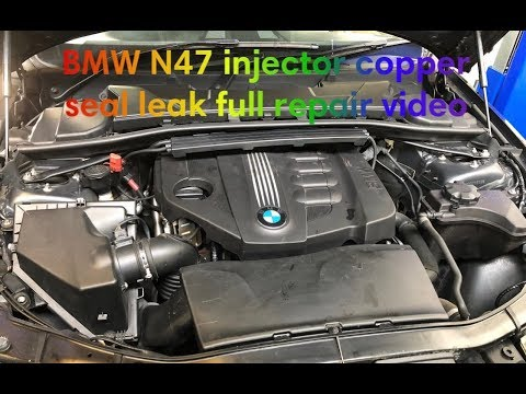 BMW 3 series E90 E91 2 0L How to replace (injector leak) full repair video  Diwali special