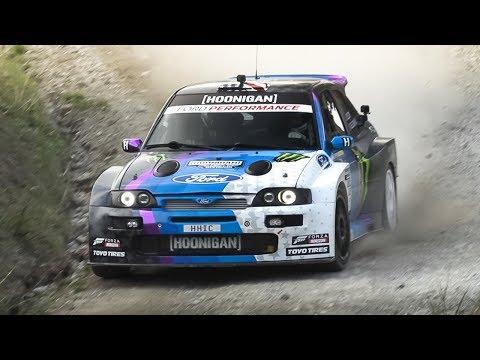 "Ken Block In Action At RallyLegend 2019! Ford Escort ""Cossie V2"" Starts, Burnouts & Jumps"