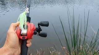 Fishing for GIANT Bass In SMALL Ponds (LOADED)