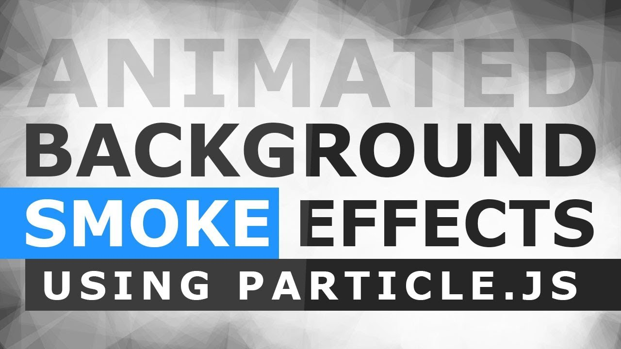 Animated Smoke Background Effects Using Particle js - Particle Smoke Effect